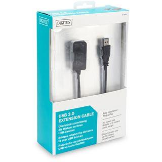 (€3,78*/1m) 5.00m Digitus USB3.0 Verlängerungskabel aktiv USB A Stecker auf USB A Buchse Schwarz