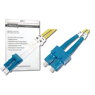 (€1,78*/1m) 5.00m Digitus LWL Duplex Patchkabel 9/125 µm OS2 LC Stecker auf SC Stecker Gelb
