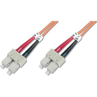 (€8,90*/1m) 1.00m Digitus LWL Duplex Patchkabel 62,5/125 µm OM1 2x SC Stecker auf 2x SC Stecker Orange LSOH