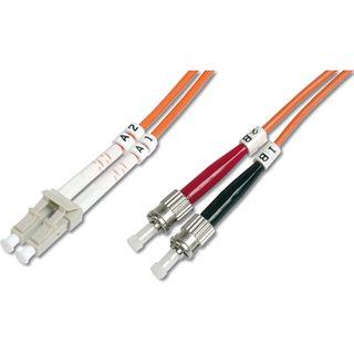 (€0,89*/1m) 10.00m Digitus LWL Duplex Patchkabel 62,5/125 µm OM1 2x ST Stecker auf 2x LC Stecker Orange LSOH