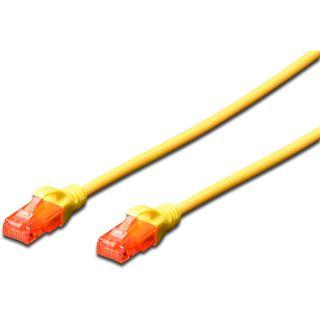(€9,80*/1m) 0.50m Digitus Cat. 6 Patchkabel U/UTP RJ45 Stecker auf RJ45 Stecker Gelb Knickschutzelement