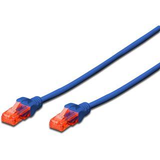 (€0,69*/1m) 10.00m Digitus Cat. 6 Patchkabel U/UTP RJ45 Stecker auf RJ45 Stecker Blau Knickschutzelement / PROFESSIONAL