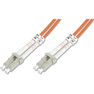 (€8,90*/1m) 1.00m Digitus LWL Duplex Patchkabel 50/125 µm OM2 LC Stecker auf LC Stecker Orange
