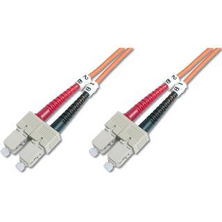 (€1,19*/1m) 10.00m Digitus LWL Duplex Patchkabel 50/125 µm OM2 SC Stecker auf SC Stecker Orange