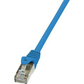 (€2,45*/1m) 2.00m LogiLink Cat. 6 Patchkabel F/UTP RJ45 Stecker auf RJ45 Stecker Blau vergoldet