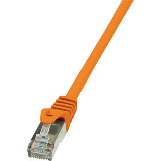 5.00m LogiLink Cat. 6 Patchkabel F/UTP RJ45 Stecker auf RJ45 Stecker Orange vergoldet