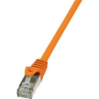 (€0,69*/1m) 10.00m LogiLink Cat. 6 Patchkabel F/UTP RJ45 Stecker auf RJ45 Stecker Orange vergoldet