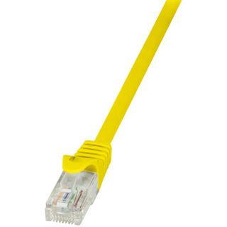 (€4,90*/1m) 1.00m LogiLink Cat. 6 Patchkabel U/UTP RJ45 Stecker auf RJ45 Stecker Gelb vergoldet