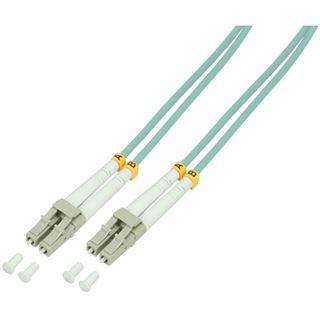 (€2,97*/1m) 3.00m LogiLink LWL Duplex Patchkabel 50/125 µm OM3 LC Stecker auf LC Stecker Türkis LSZH