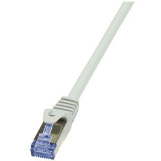 (€0,56*/1m) 50.00m LogiLink Cat. 6a Patchkabel S/FTP PiMF RJ45 Stecker auf RJ45 Stecker Grau halogenfrei / Polybag / Twisted Pair