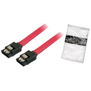 (€13,00*/1m) 0.30m ShiverPeaks SATA 3Gb/s Anschlusskabel Basic-S SATA Stecker auf SATA Stecker Rot mit Arretierung