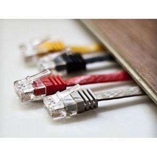 (€0,99*/1m) 15.00m ShiverPeaks Cat. 6 Anschlusskabel U/UTP RJ45 Stecker auf RJ45 Stecker Weiß flach