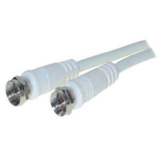 (€0,35*/1m) 7.50m ShiverPeaks Antenne Anschlusskabel Basic-S F Stecker auf F Stecker Weiß Kupfer / vernickelt