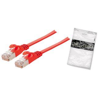 (€1,58*/1m) 5.00m ShiverPeaks Cat. 7 Rohkabel Anschlusskabel U/FTP RJ45 Stecker auf RJ45 Stecker Rot flach