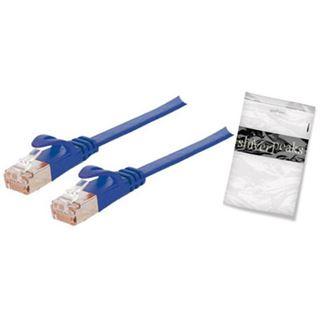 7.50m ShiverPeaks Cat. 7 Rohkabel Anschlusskabel U/FTP RJ45 Stecker auf RJ45 Stecker Blau flach