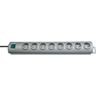 (€8,95*/1m) 2.00m Brennenstuhl Primera-Line Steckdosenleiste mit Schalter Silber 8 (1153390128)
