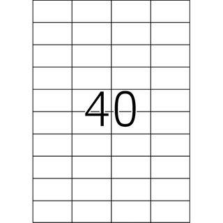 TOP STICK Universal-Etiketten, 52,5 x 29,7 mm, 100 Blatt