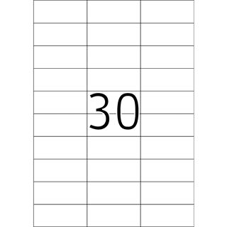 TOP STICK Universal-Etiketten, 70,0 x 29,7 mm, weiß