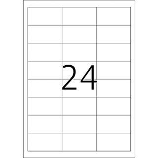 TOP STICK Universal-Etiketten, 64,6 x 33,8 mm, weiß