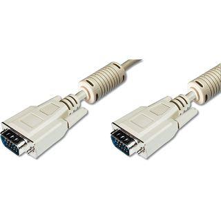 (€1,06*/1m) 15.00m Digitus VGA Anschlusskabel VGA 15pol Stecker auf VGA 15pol Stecker Grau doppelt geschirmt / Polybag