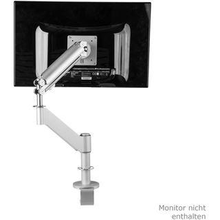 """R-GO Tools Caparo 3 PRO Tischhalterung für 1x bis 32"""" mit 3 Gelenken silber"""