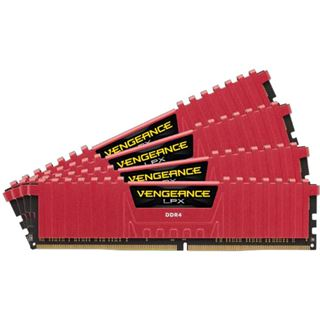 32GB Corsair Vengeance LPX rot DDR4-3000 DIMM CL15 Quad Kit