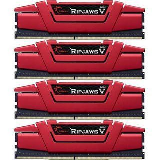 32GB G.Skill RipJaws V rot DDR4-3000 DIMM CL14 Quad Kit