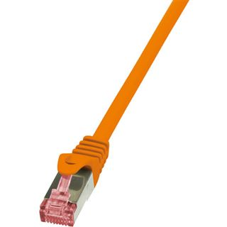 (€0,89*/1m) 10.00m LogiLink Cat. 6 Patchkabel S/FTP PiMF RJ45 Stecker auf RJ45 Stecker Orange halogenfrei / Premium