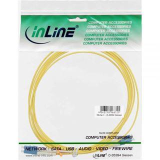 (€4,45*/1m) 2.00m InLine LWL Duplex Patchkabel 9/125 µm OS2 LC Stecker auf LC Stecker Gelb
