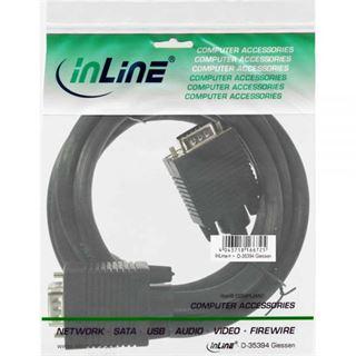(€4,90*/1m) 1.00m InLine S-VGA Anschlusskabel VGA 15pol Stecker auf VGA 15pol Stecker Schwarz Ferritkern