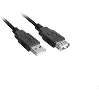 (€2,45*/1m) 2.00m Sharkoon USB2.0 Verlängerungskabel USB A Stecker auf USB A Buchse Schwarz