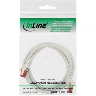 (€2,30*/1m) 3.00m InLine Cat. 6 Patchkabel S/FTP RJ45 Stecker auf RJ45 Stecker Weiß halogenfrei / Knickschutzelement / Rastnasenschutz