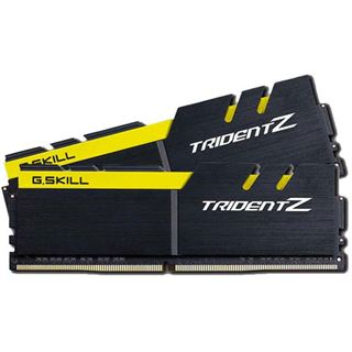 16GB G.Skill Trident Z schwarz/gelb DDR4-3200 DIMM CL16 Dual Kit