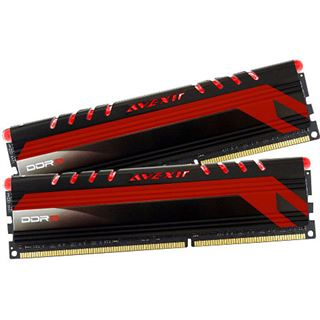16GB Avexir Core Series LED rot DDR3-1600 DIMM CL11 Dual Kit