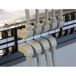 (€4,45*/1m) 2.00m Delock Cat. 6a Patchkabel S/FTP RJ45 Stecker auf RJ45 Stecker gewinkelt Grau