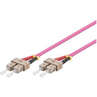(€1,53*/1m) 30.00m Good Connections LWL Duplex Patchkabel 50/125 µm OM4 SC Stecker auf SC Stecker Violett