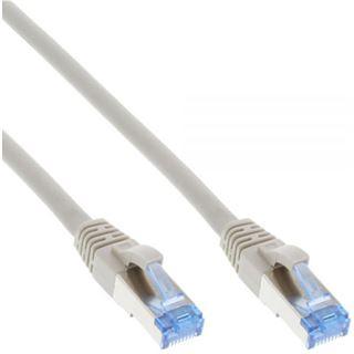 (€1,20*/1m) 30.00m InLine Cat. 6a Patchkabel S/FTP RJ45 Stecker auf RJ45 Stecker Grau halogenfrei