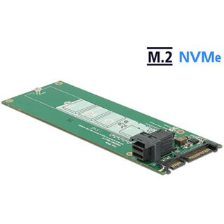 DeLOCK Konverter SATA 22 Pin + Mini SAS HD SFF-8643> M.2