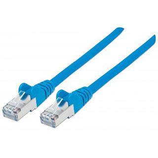 (€2,45*/1m) 2.00m Intellinet Cat. 6 Patchkabel S/FTP PiMF RJ45 Stecker auf RJ45 Stecker Blau halogenfrei / vergoldet
