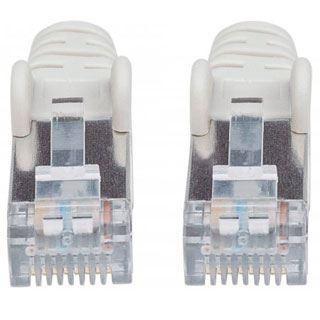 (€1,63*/1m) 3.00m Intellinet Cat. 6 Patchkabel S/FTP PiMF RJ45 Stecker auf RJ45 Stecker Grau halogenfrei / vergoldet