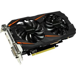 6GB Gigabyte GeForce GTX 1060 Windforce OC Aktiv PCIe 3.0 x16 (Retail)