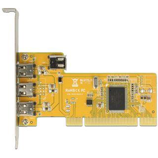 DeLOCK PCI Karte > 3 x extern + 1 x intern FireWire A