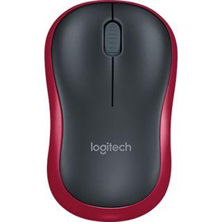 Logitech M 185 USB schwarz/rot (kabellos)