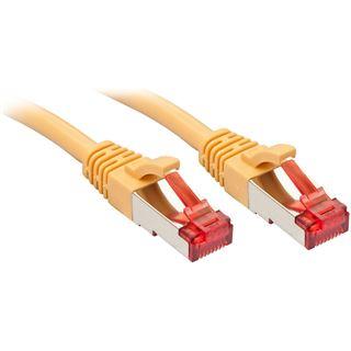 (€1,78*/1m) 5.00m Lindy Cat. 6 Patchkabel S/FTP RJ45 Stecker auf RJ45 Stecker Gelb Klinkenschutz / vergoldet