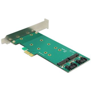 Delock PCIe x1 > 2 x M.2 Key B Low Profile Form Faktor