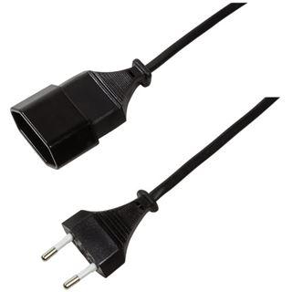 (€3,90*/1m) 1.00m LogiLink Stromadapterkabel CEE Stecker auf CEE Buchse Schwarz