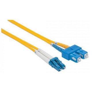 (€1,78*/1m) 5.00m Intellinet LWL Single-Mode LWL Anschlusskabel 9/125 µm OS2 LC Stecker auf SC Stecker Gelb LSOH