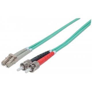 (€2,97*/1m) 3.00m Intellinet LWL Duplex LWL Anschlusskabel 50/125 µm OM3 LC Stecker auf ST Stecker Türkis LSOH