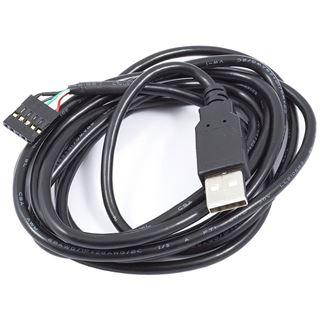 (€3,95*/1m) 2.00m Aqua Computer USB2.0 Anschlusskabel USB A Stecker auf Buchse Schwarz