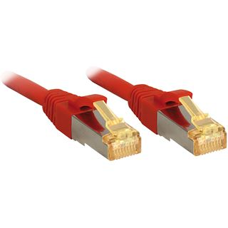 (€6,90*/1m) 1.00m Lindy Cat. 7 Rohkabel Patchkabel S/FTP RJ45 Stecker auf RJ45 Stecker Rot Klinkenschutz / LSOH